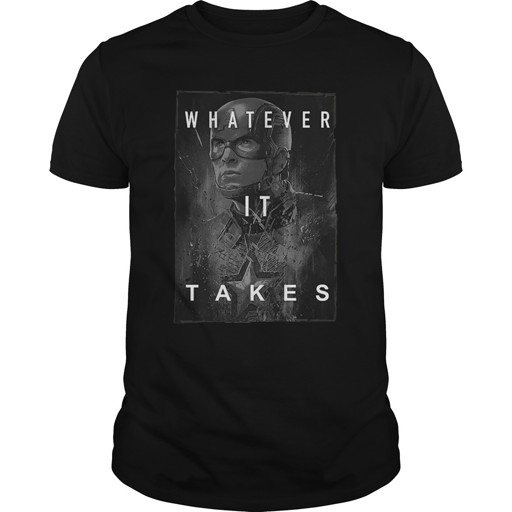 Captain America Whatever It Takes unisex shirt