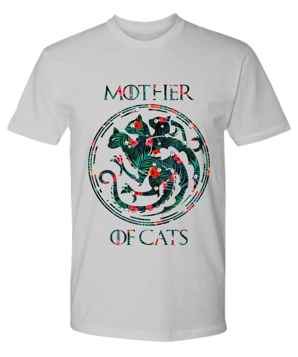 Floral tropical mother of cats Game of Thrones premium shirt
