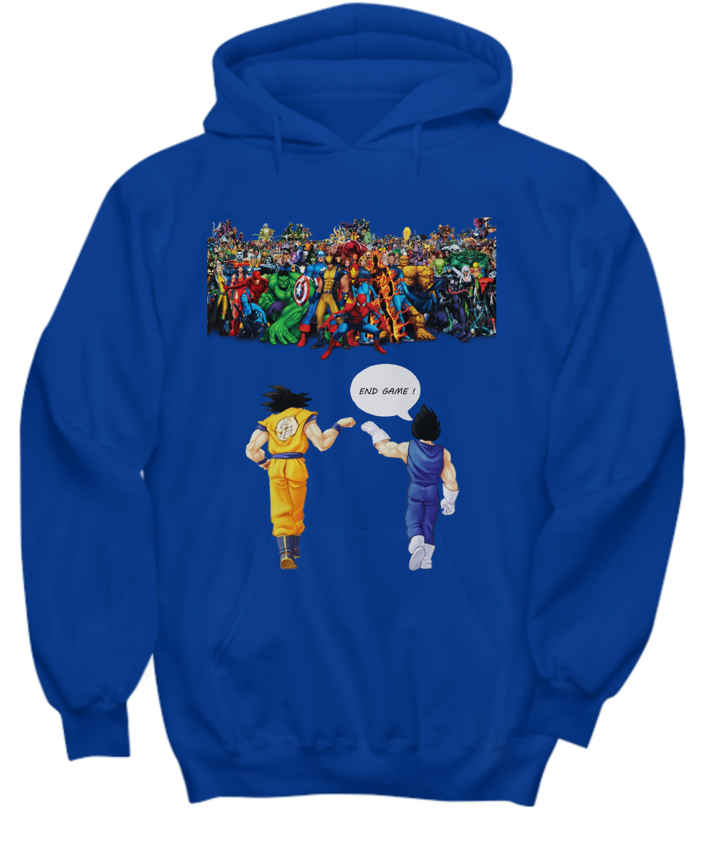 Goku and Vegeta Endgame Marvel Superheroes hoodie