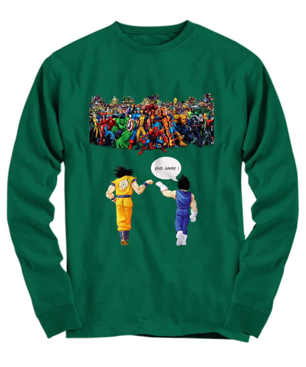 Goku and Vegeta Endgame Marvel Superheroes long sleeve