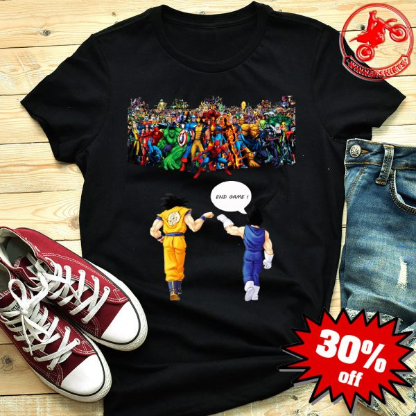 Goku and Vegeta Endgame Marvel Superheroes shirt