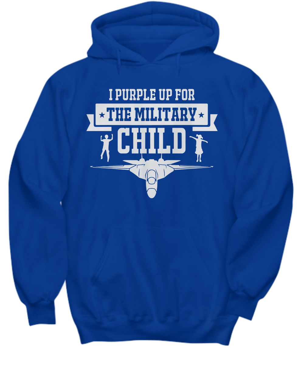 I Purple Up For The Military Child Airplane hoodie