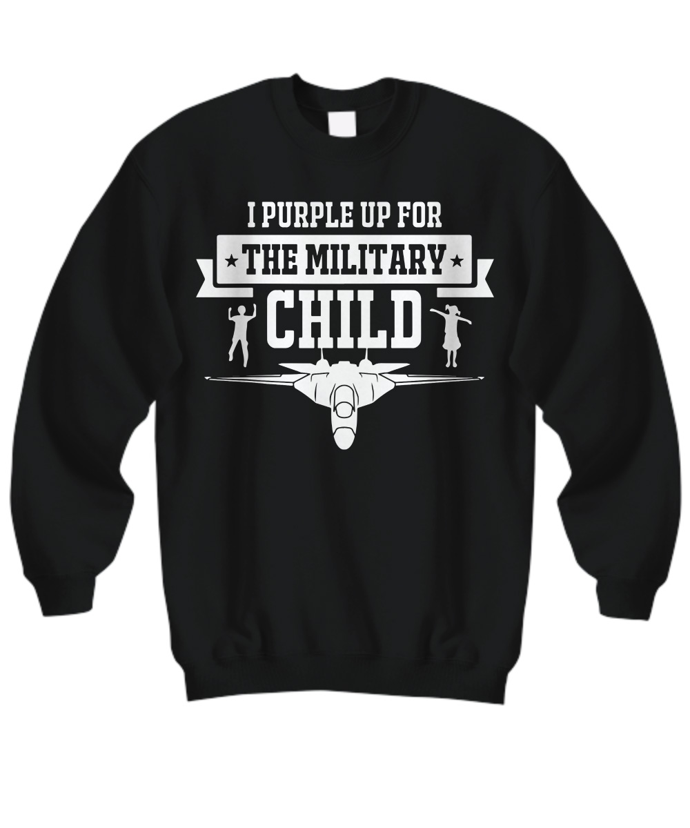 I Purple Up For The Military Child Airplane sweatshirt