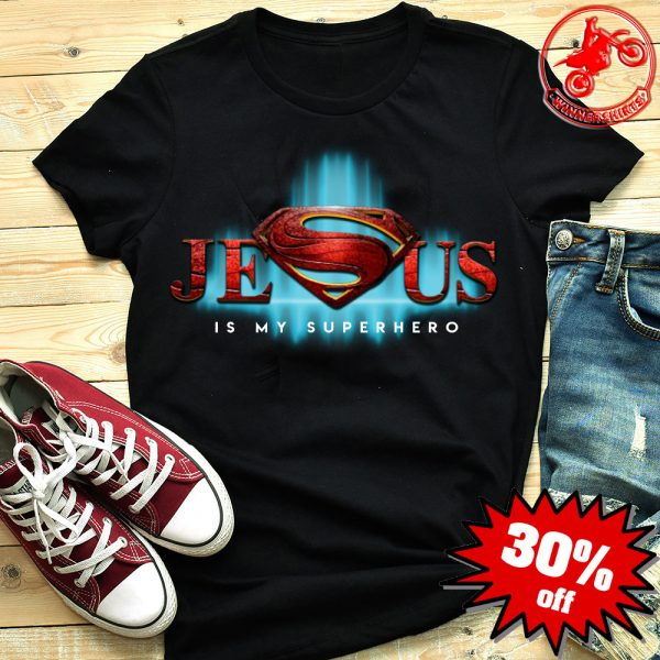 Jesus is my hero superman logo shirt