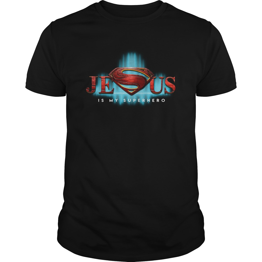 Jesus is my hero superman logo unisex shirt