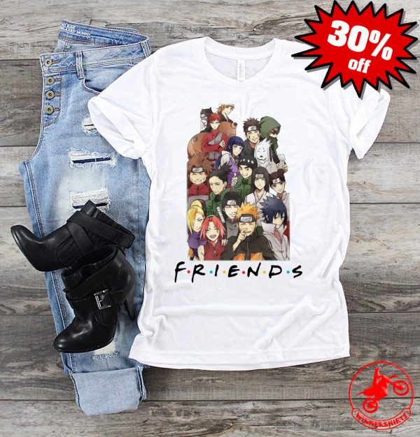 Naruto Anime F.R.I.E.N.D.S together shirt