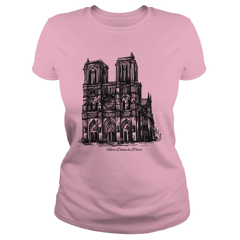 Pray For Notre-Dame Cathedral Paris lady shirt