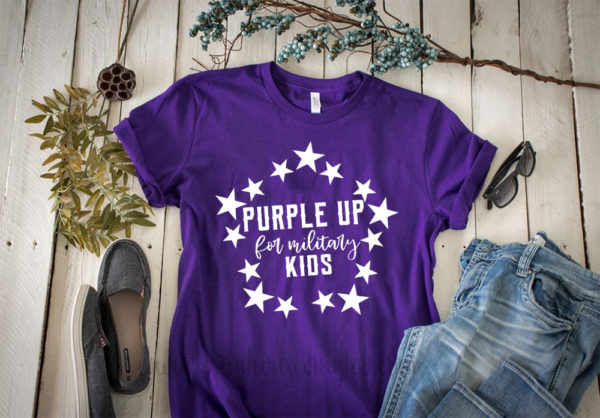 Purple Up for Military Child Kids Awareness Shirt