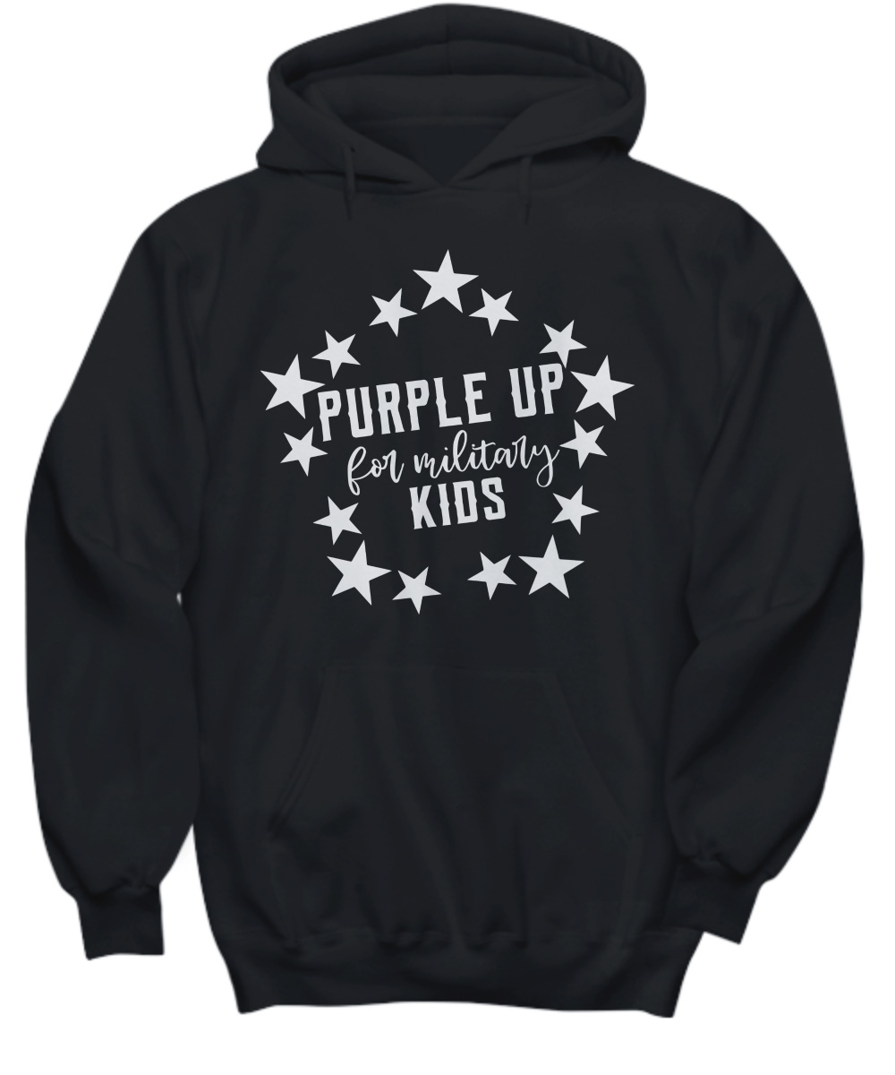 Purple Up for Military Child Kids Awareness hoodie