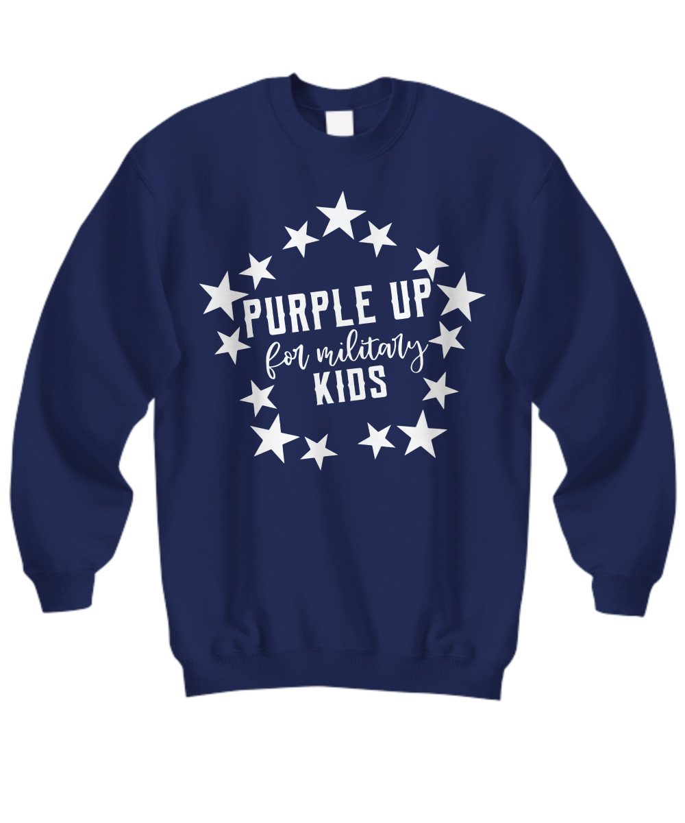 Purple Up for Military Child Kids Awareness sweatshirt