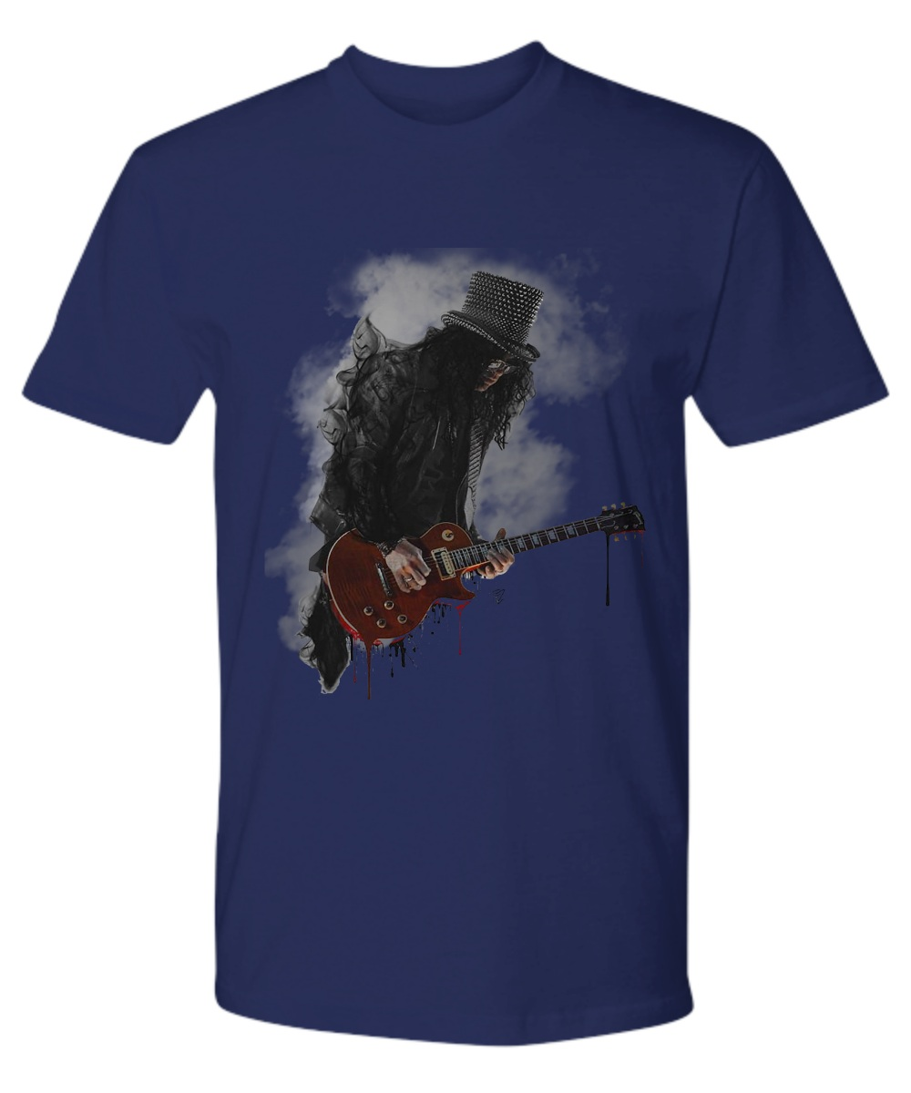 Slash play guitar Guns N' Roses shirt
