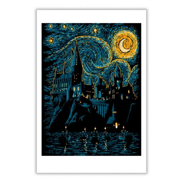 Starry School Harry Potter Poster