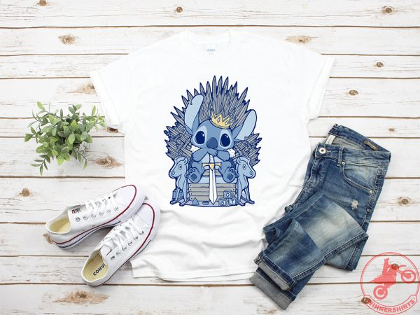 Stitch Sitting On Iron Throne Shirt