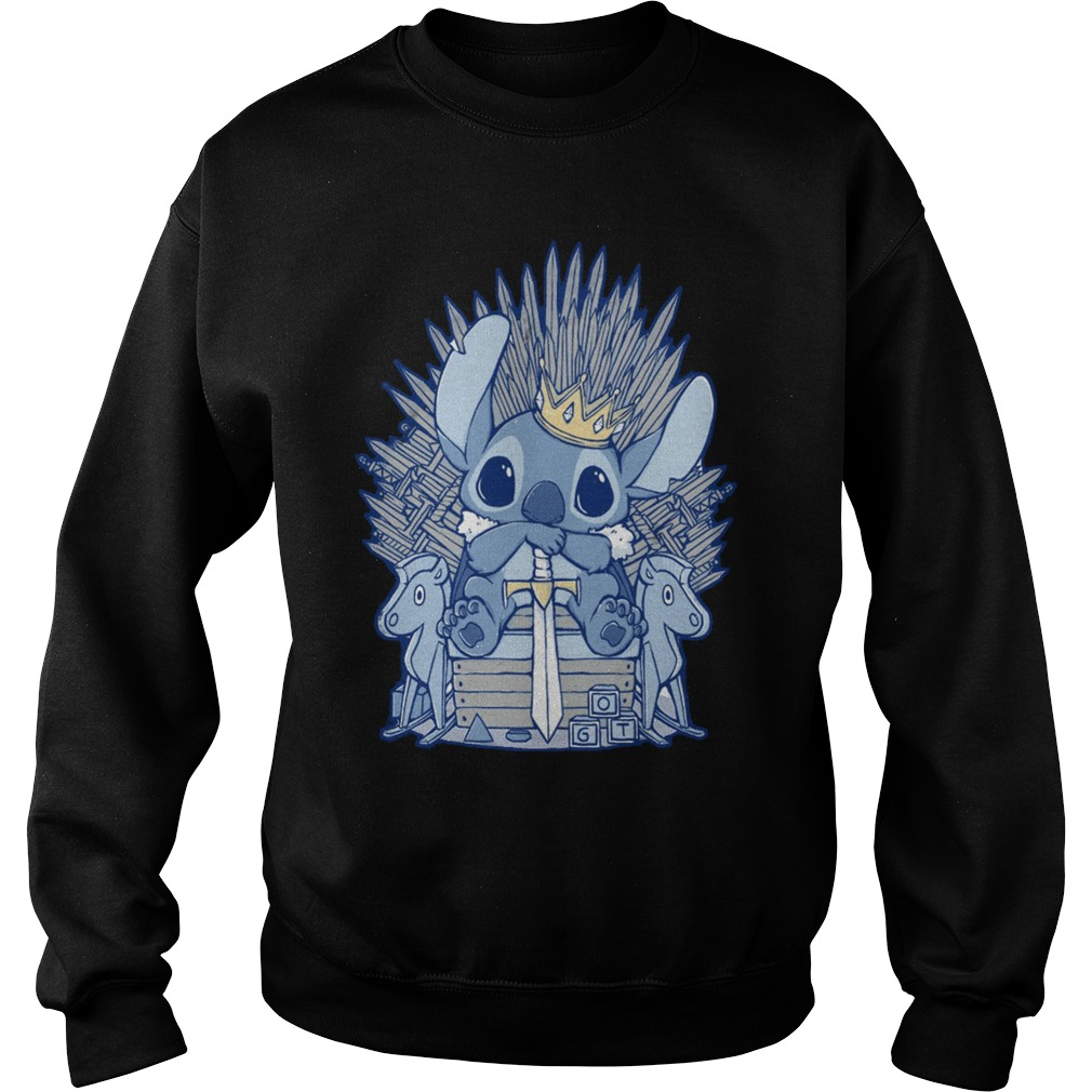 Stitch Sitting On Iron Throne sweatshirtStitch Sitting On Iron Throne sweatshirt
