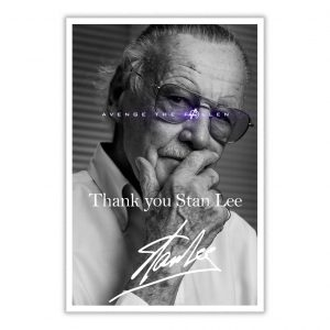 Thank you Stan Lee Marvel Avenge The Fallen poster