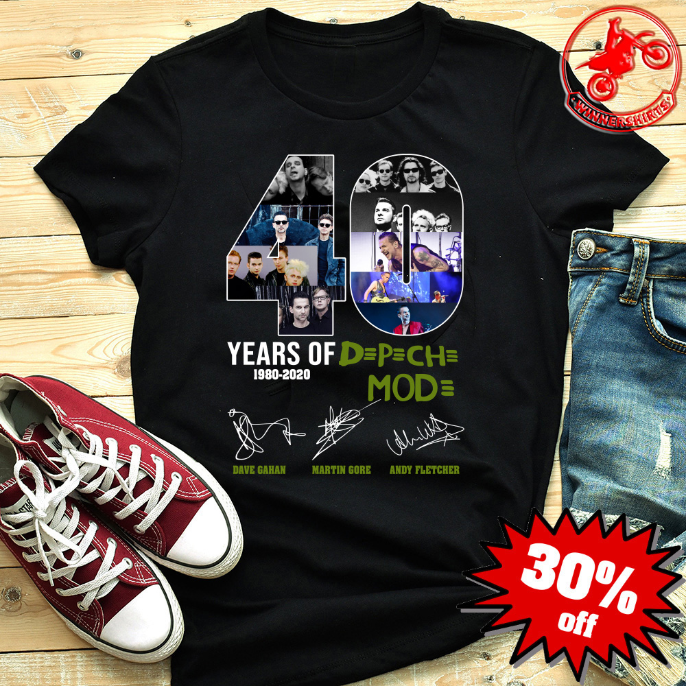 Depeche Mode Tour 2020 40 Years Of Depeche Mode 1980 2020 shirt, hoodie, sweatshirt