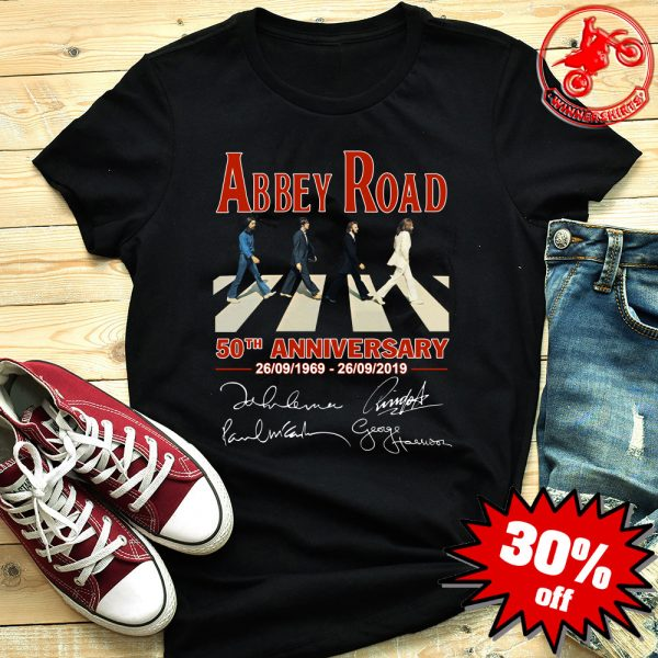 Abbey Road The Beatles 50th Anniversary Signature Shirt