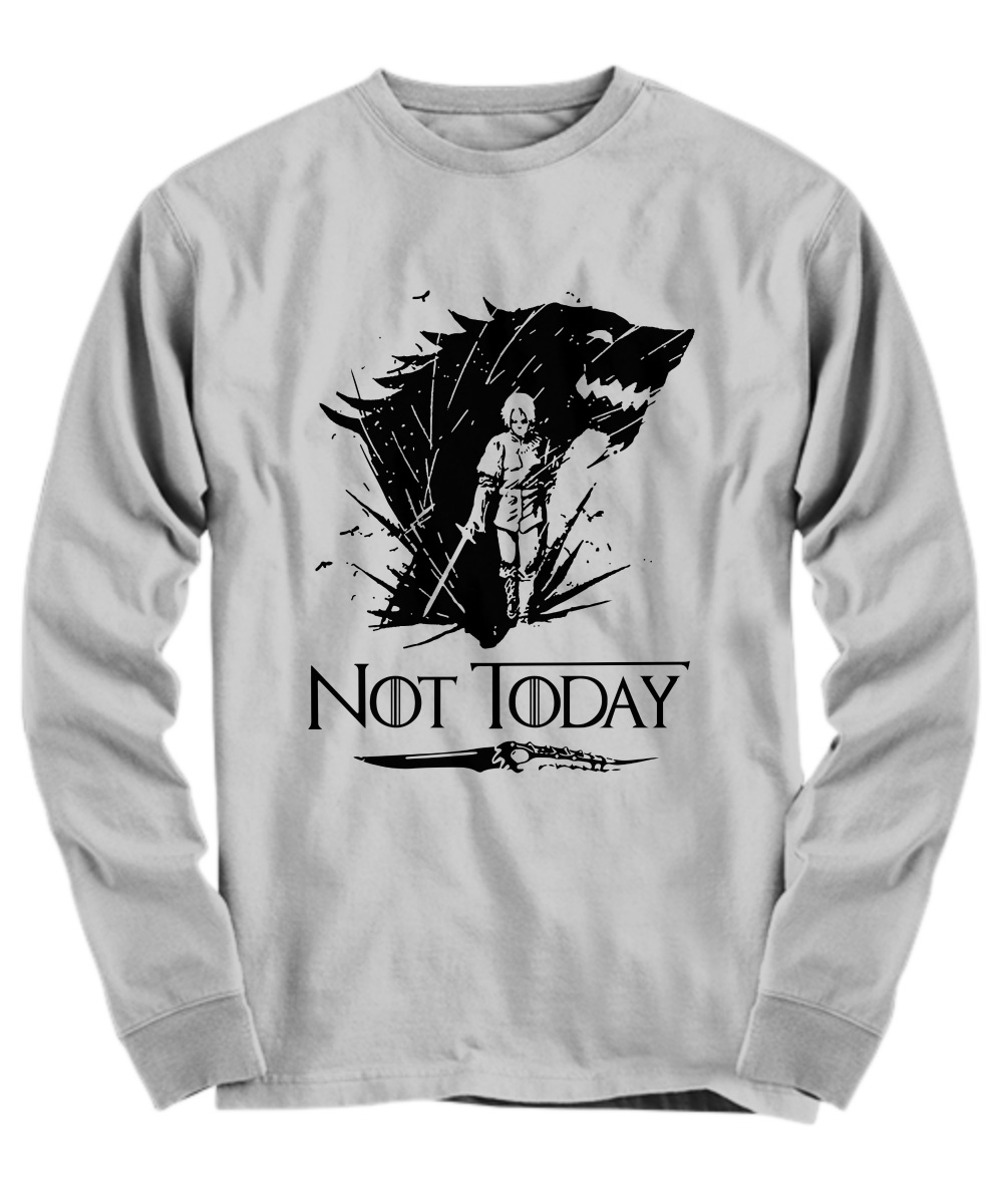 Arya's Dagger Kills The Night King Not Today long sleeve