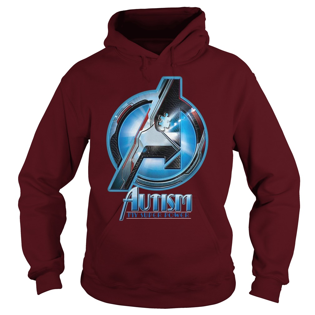 Autism My Super Power Marvel Avenger Endgame hoodie
