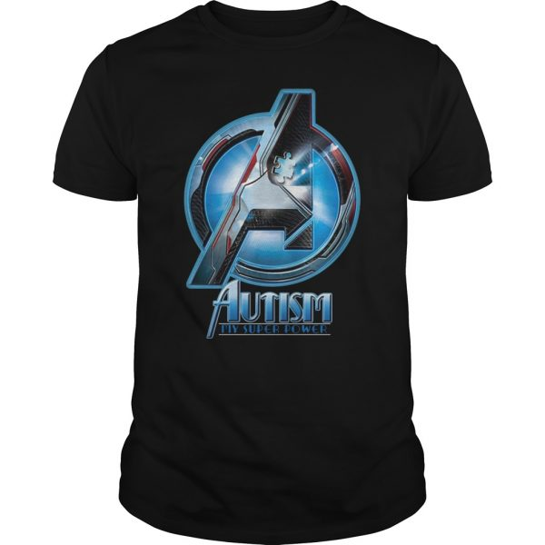 Autism My Super Power Marvel Avenger Endgame shirt
