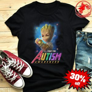 Baby Groot Infinity Gauntlet Fight For Autism Awareness Shirt