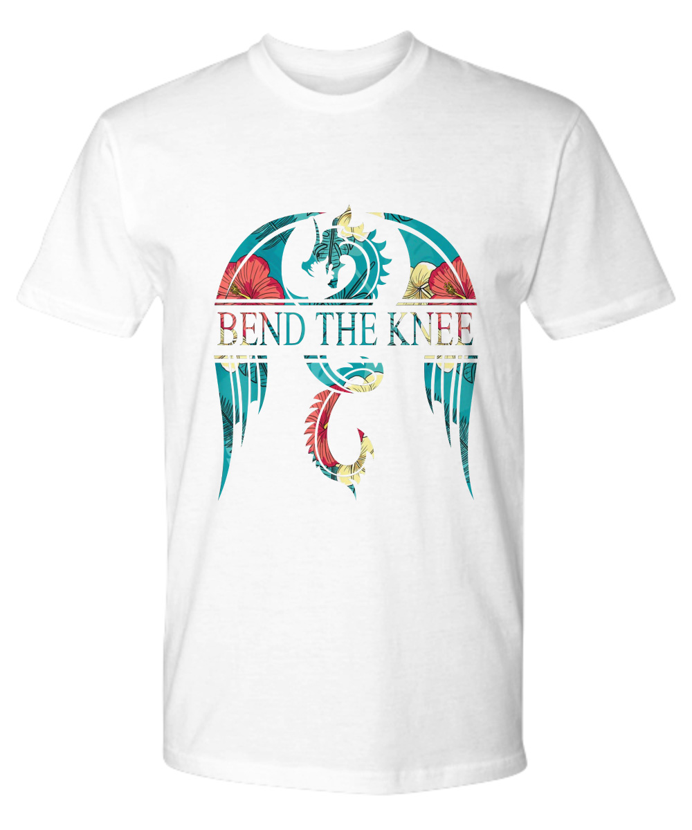 Bend The Knee King And Queen Throne Dragon Flower Premium Shirt