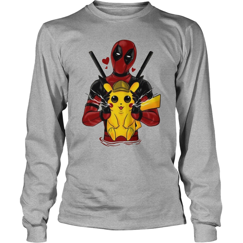 Deadpool Hugging Detective Pikachu long sleeve