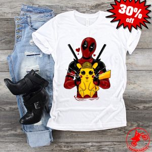 Deadpool hugging detective Pikachu Shirt