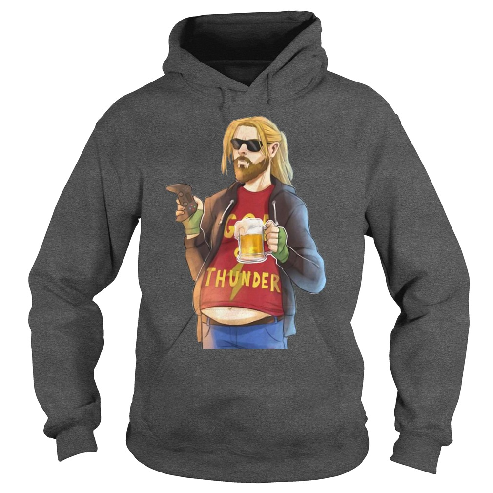 Fat-Thor God Of Thunder Like Beer and Game Hoodie