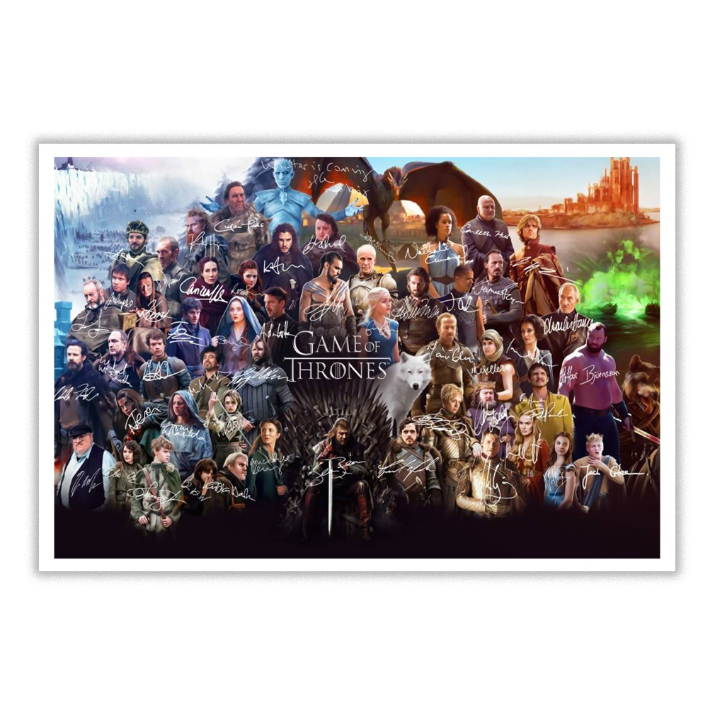 Game Of Thrones Character And Signature Small Poster