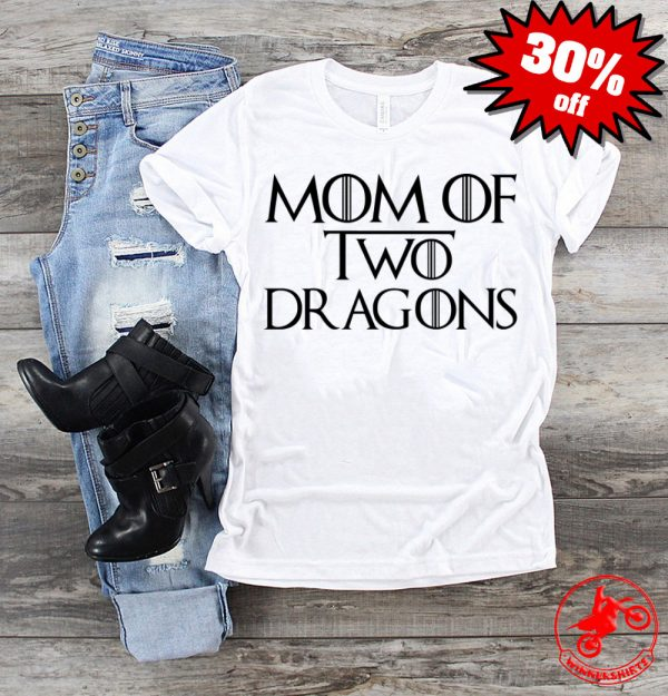 Mother's Day Mom of Two Dragons Shirt