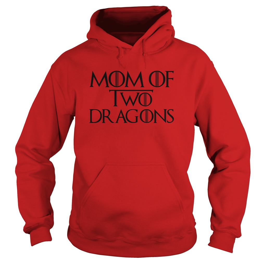 Mother's Day Mom of Two Dragons hoodie