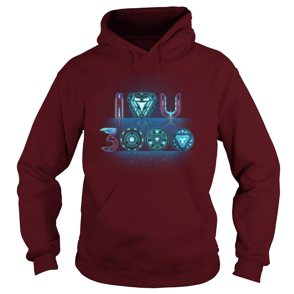 Reactor Iron Man I Love You 3000 Times Hoodie