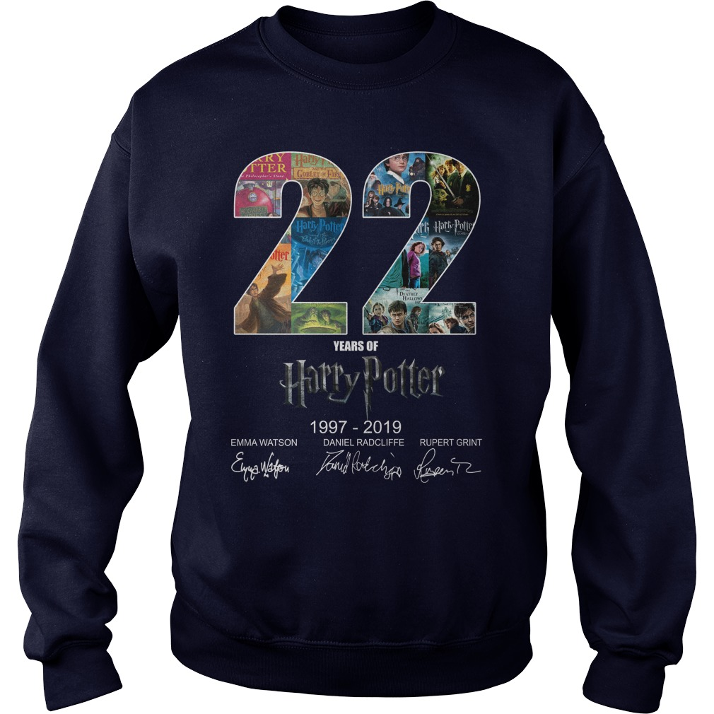 22 Years Of Harry Potter 1997-2019 Signature sweatshirt