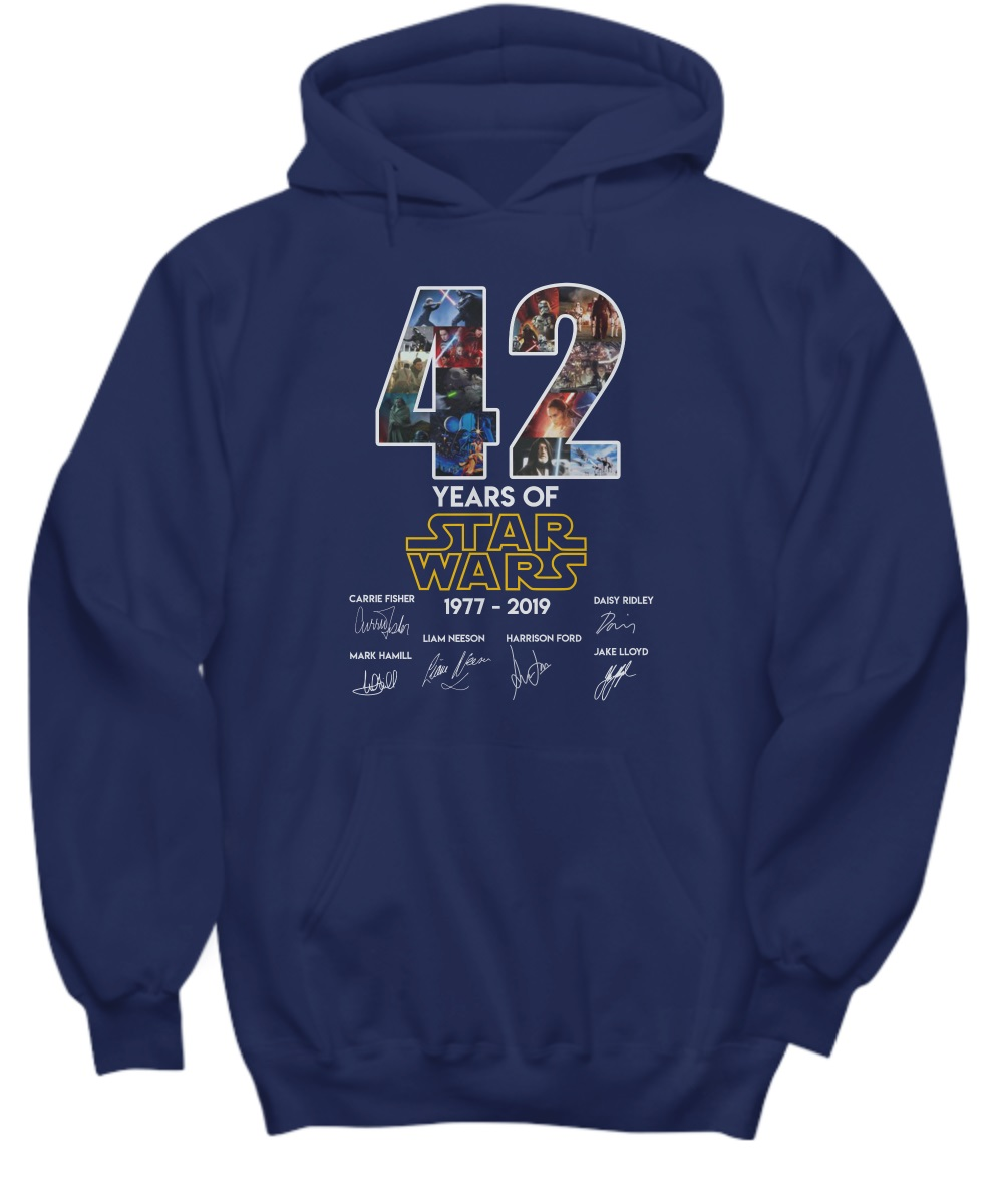 42 Years Of Star Wars 1977 - 2019 Signature Hoodie
