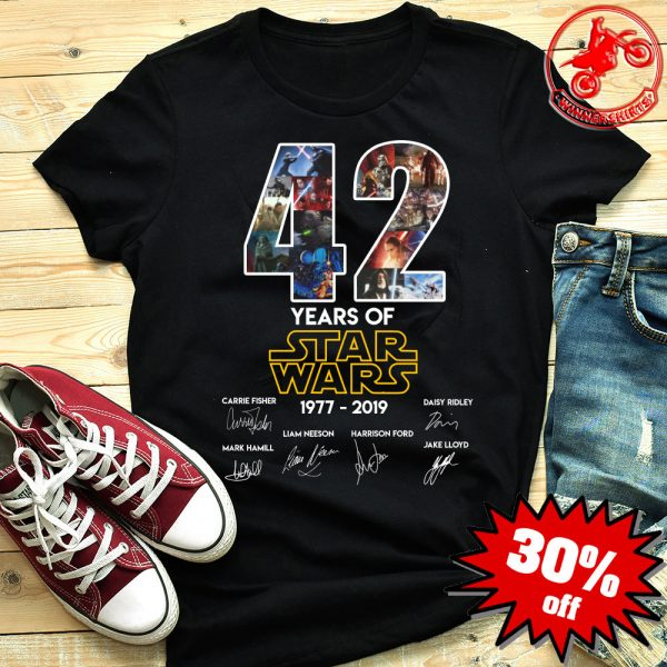 42 Years Of Star Wars 1977 - 2019 Signature Shirt