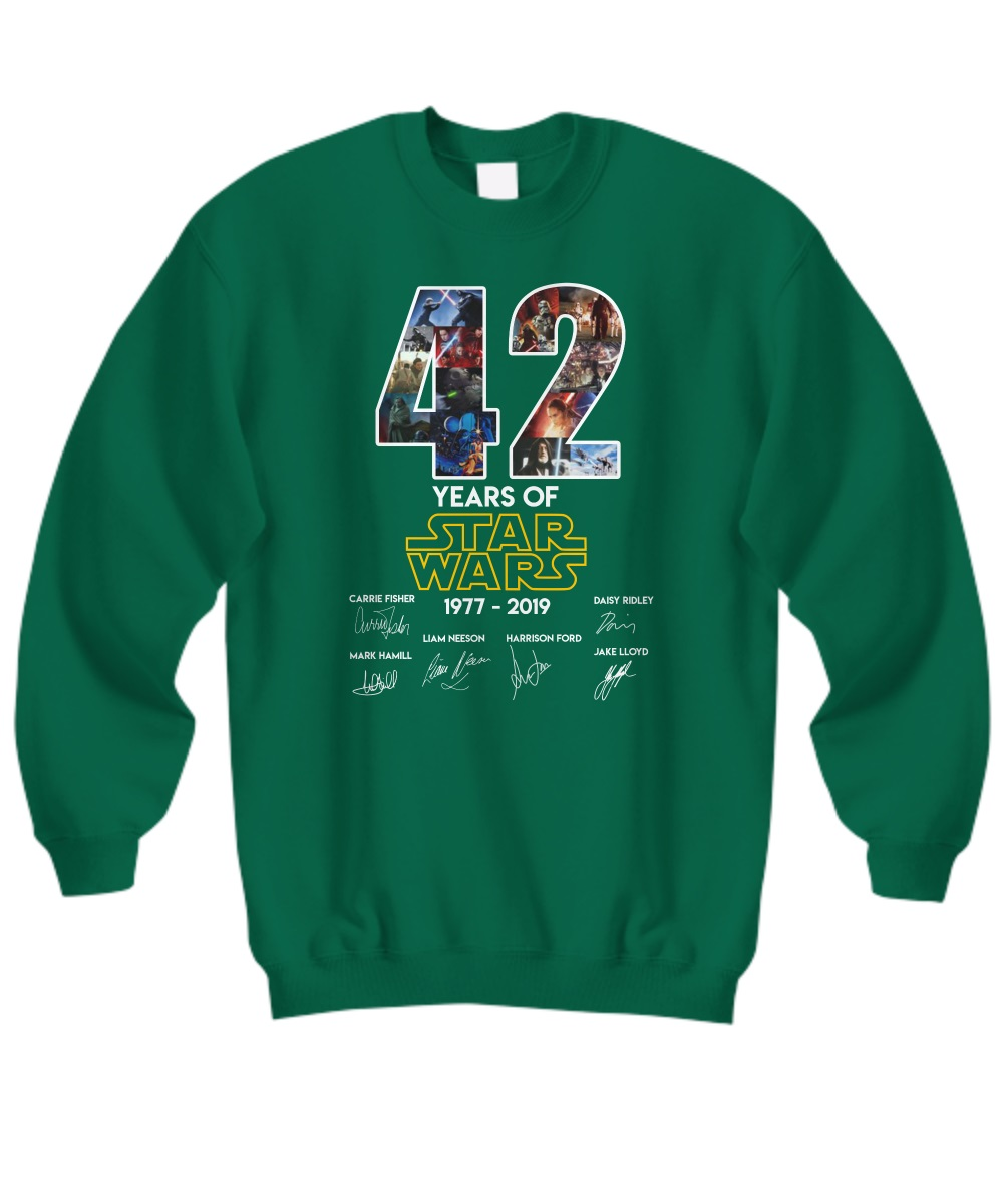 42 Years Of Star Wars 1977 - 2019 Signature Sweatshirt