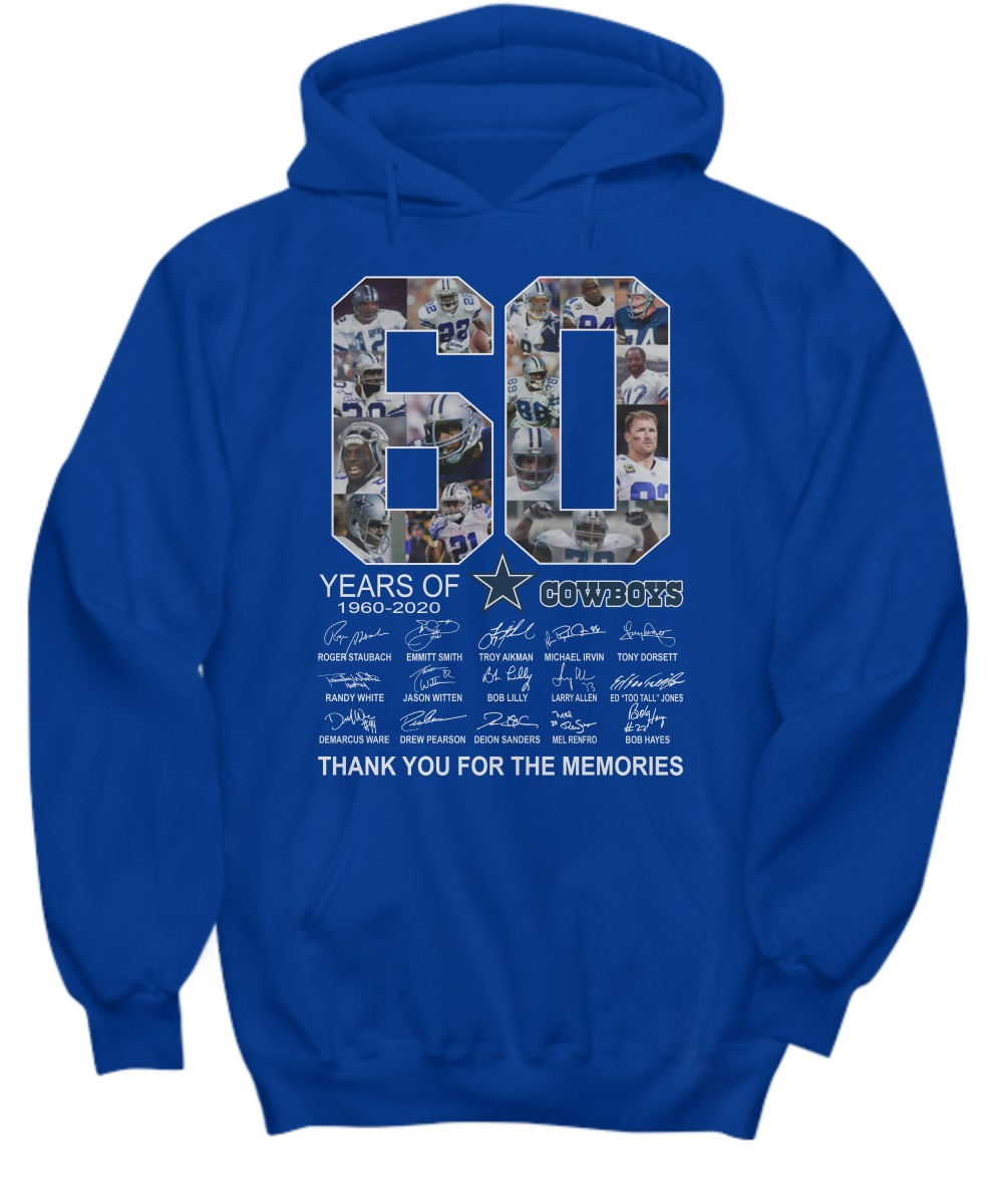60 Years Cowboys Thank You For The Memories 1960-2020 hoodie