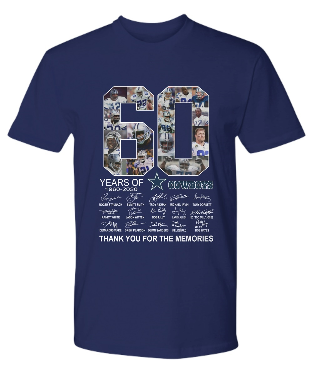 60 Years Cowboys Thank You For The Memories 1960-2020 premium shirt