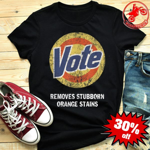 Anti Trump Vote Removes Stubborn Orange Stains Shirt