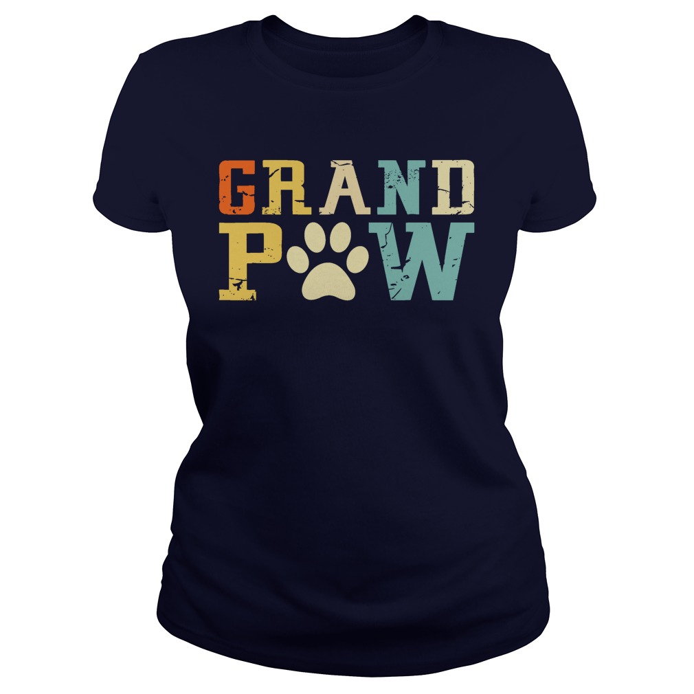 Grand Paw Dog Puppy Lover Grandpa Vintage lady shirt