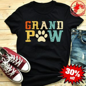 Grand Paw Doggy Puppy Lover Grandpa Vintage Shirt