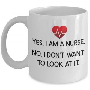 Heartbeat yes I am a nurse no I don't want to look at it mug