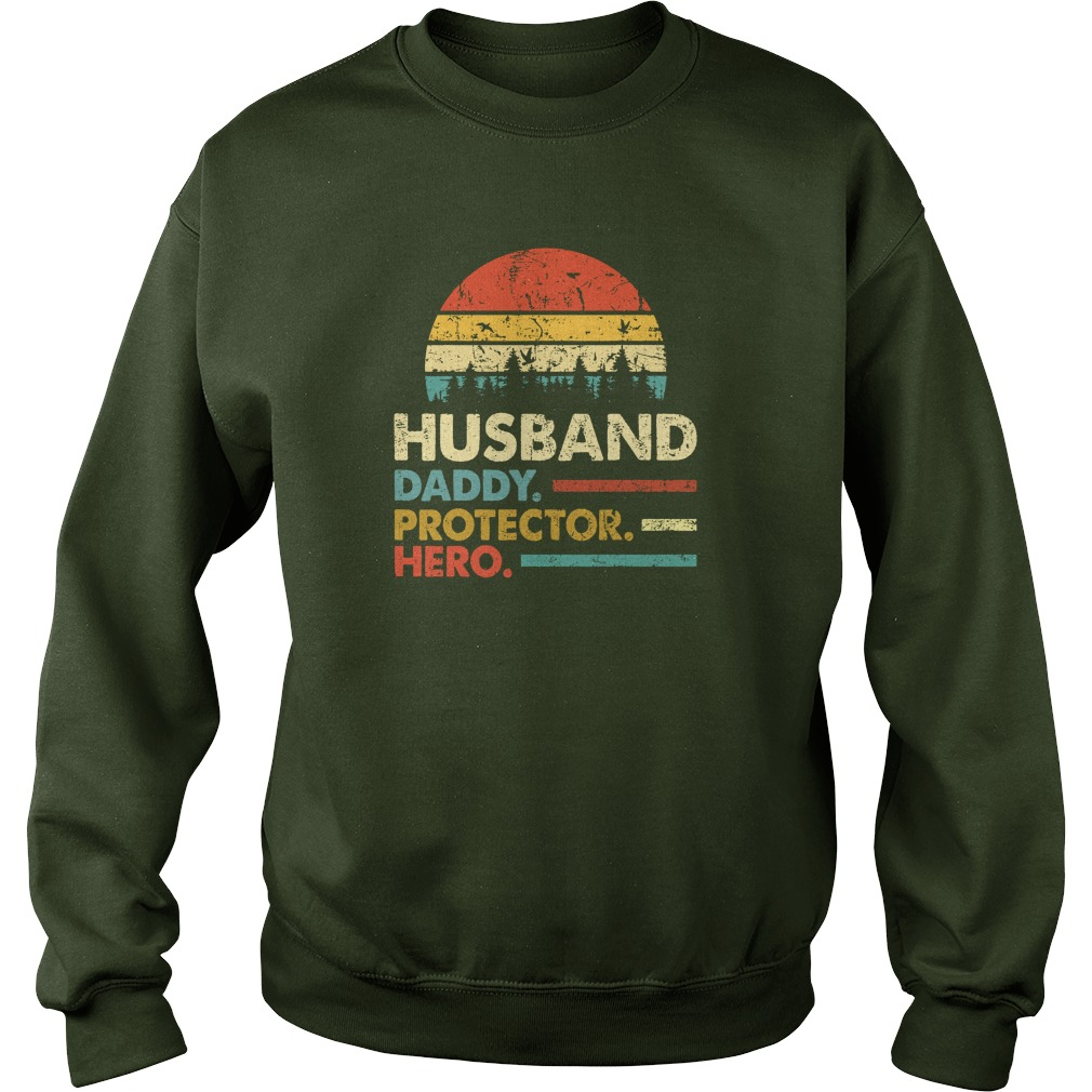 Husband Daddy Protector Hero Vintage Sunset sweatshirt