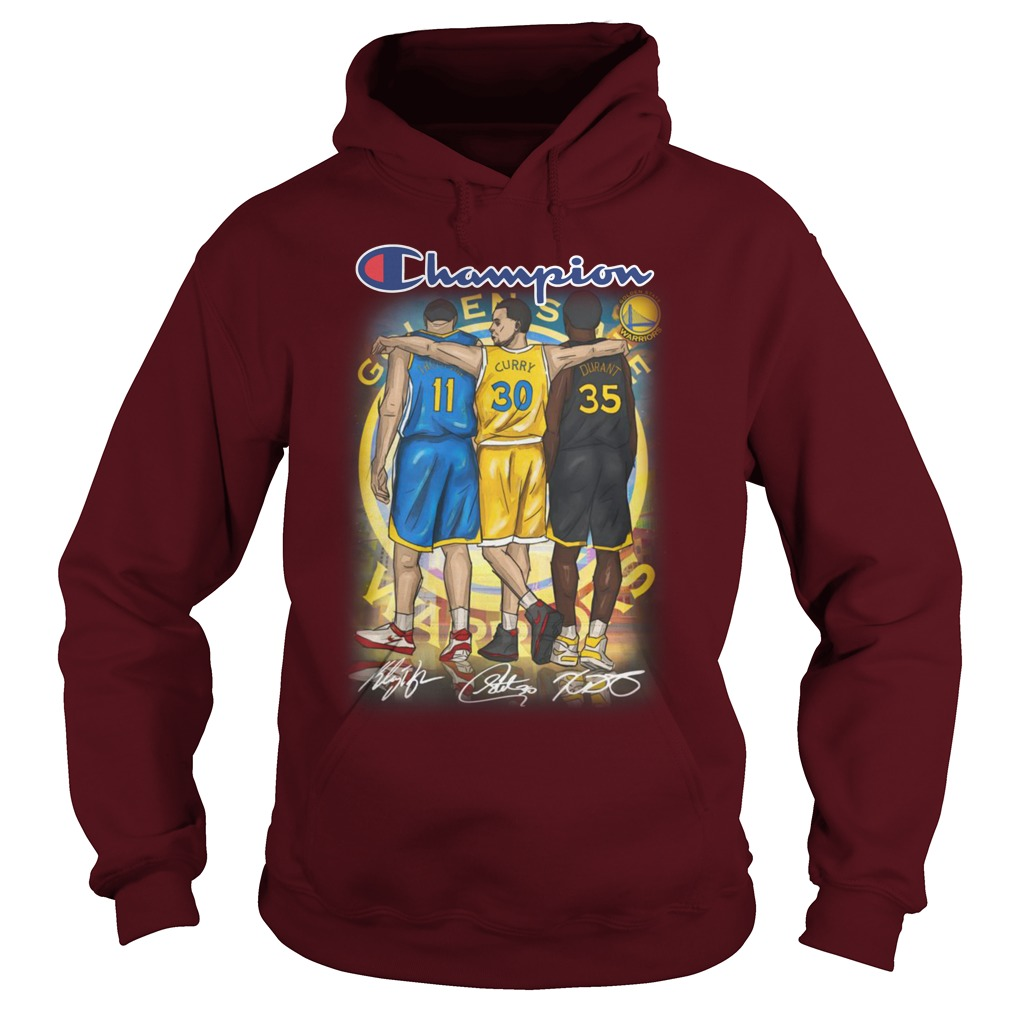 Kevin Durant Stephen Curry Klay Thompson Champion hoodie