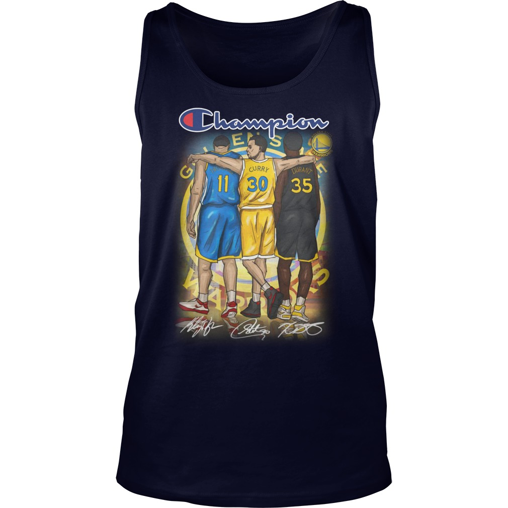 Kevin Durant Stephen Curry Klay Thompson Champion tank top