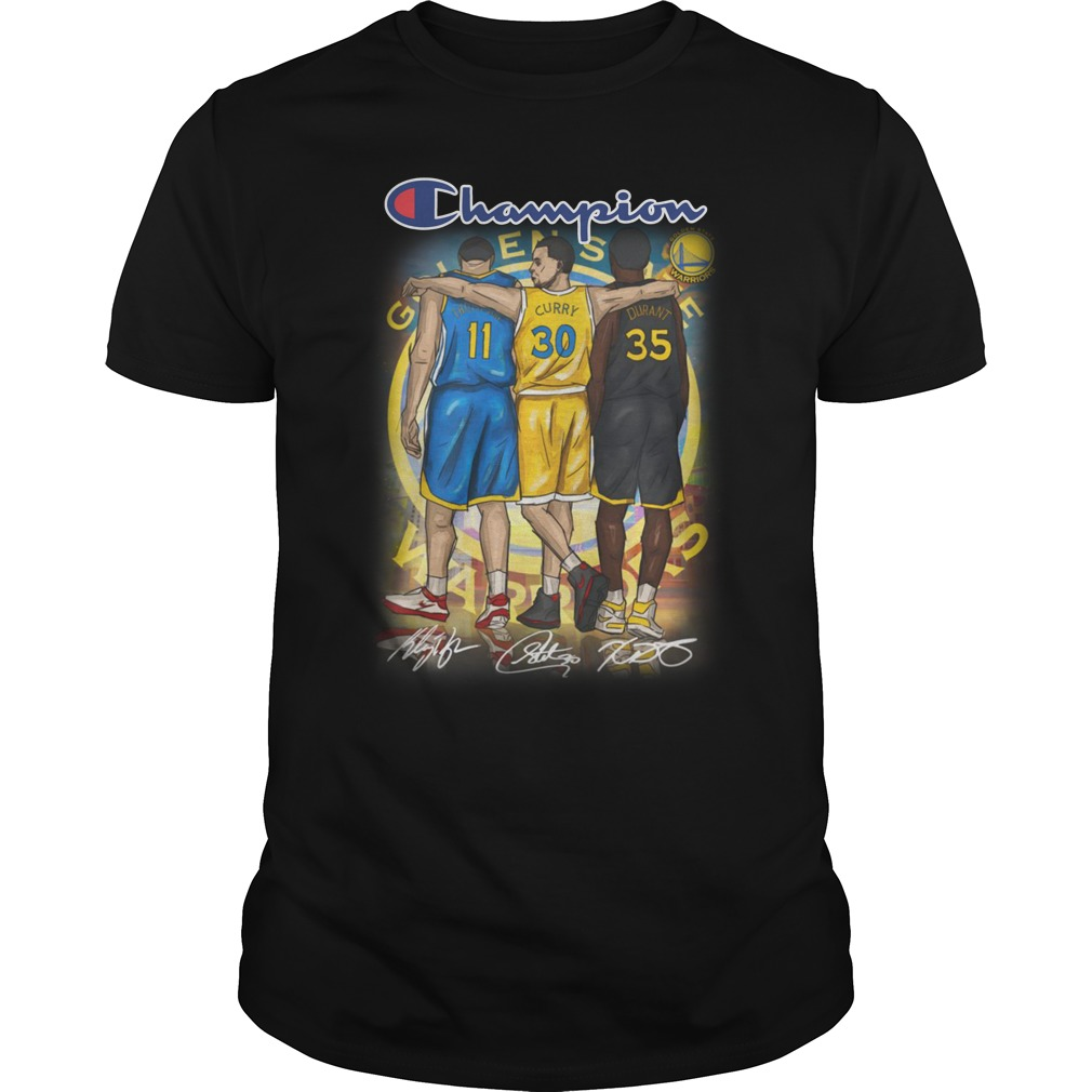 Kevin Durant Stephen Curry Klay Thompson Champion unisex shirt