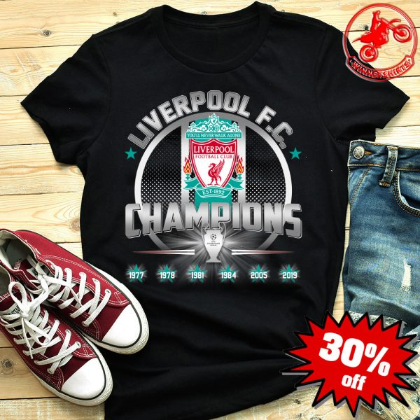 Liverpool FC 6th UEFA Champions League Shirt