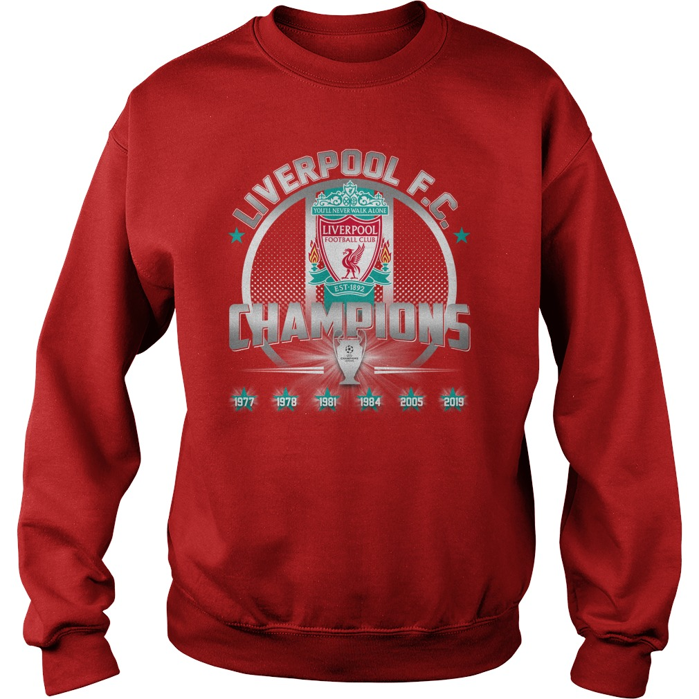 Liverpool FC 6th UEFA Champions League sweatshirt