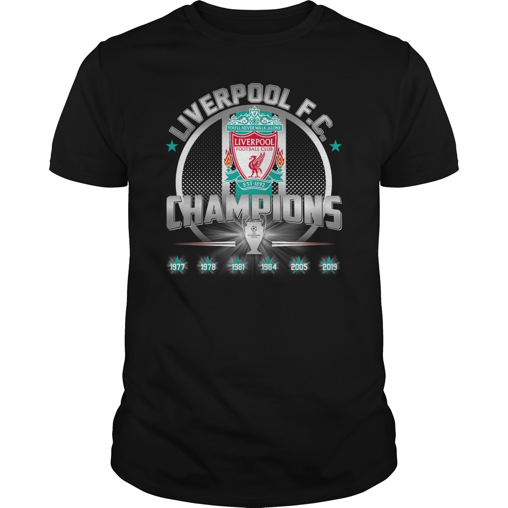 Liverpool FC 6th UEFA Champions League unisex shirt